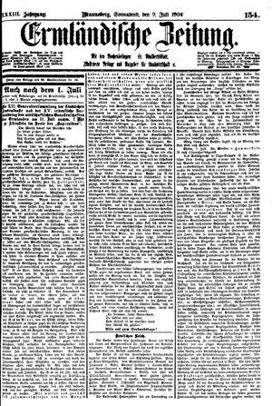 Ermländische Zeitung vom 09.07.1904