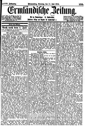 Ermländische Zeitung vom 10.07.1904