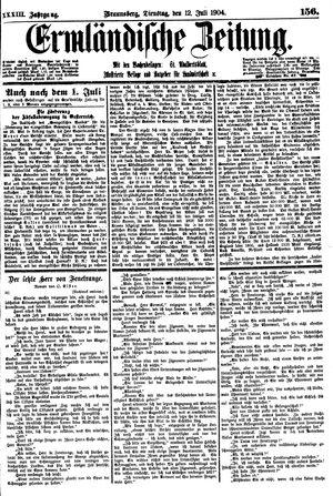 Ermländische Zeitung vom 12.07.1904