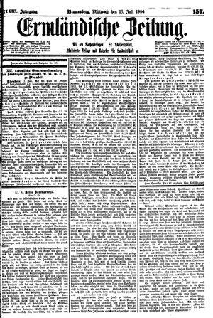 Ermländische Zeitung vom 13.07.1904