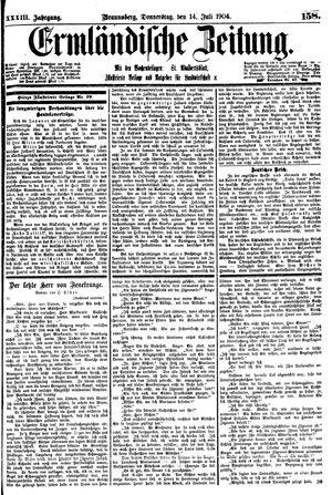 Ermländische Zeitung vom 14.07.1904