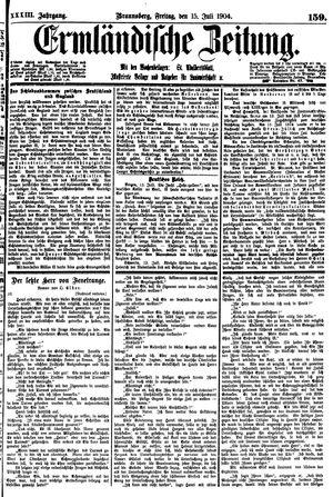 Ermländische Zeitung on Jul 15, 1904