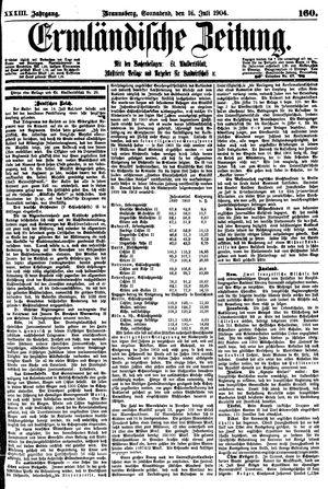 Ermländische Zeitung vom 16.07.1904