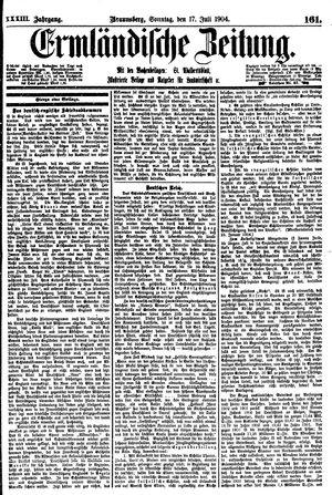 Ermländische Zeitung vom 17.07.1904