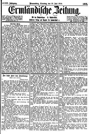 Ermländische Zeitung vom 19.07.1904