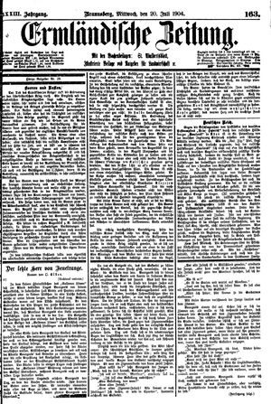 Ermländische Zeitung vom 20.07.1904
