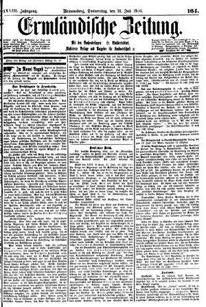Ermländische Zeitung vom 21.07.1904