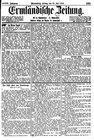 Ermländische Zeitung vom 22.07.1904