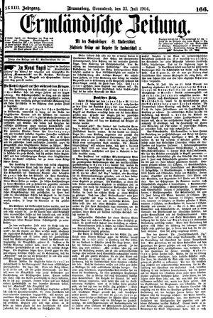Ermländische Zeitung vom 23.07.1904