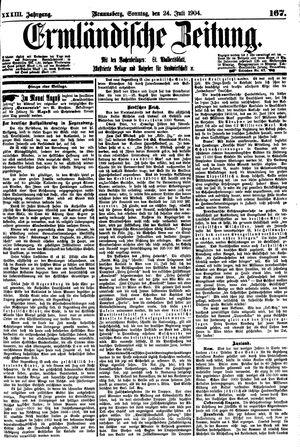 Ermländische Zeitung vom 24.07.1904