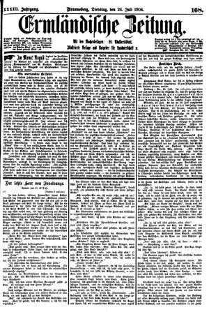 Ermländische Zeitung vom 26.07.1904
