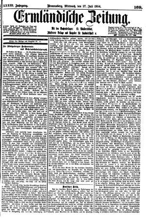 Ermländische Zeitung vom 27.07.1904