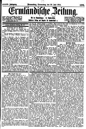 Ermländische Zeitung vom 28.07.1904
