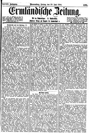 Ermländische Zeitung vom 29.07.1904