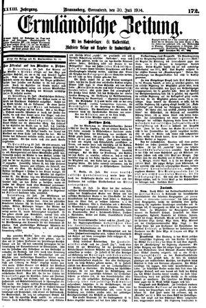 Ermländische Zeitung vom 30.07.1904