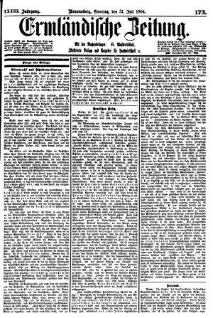 Ermländische Zeitung vom 31.07.1904