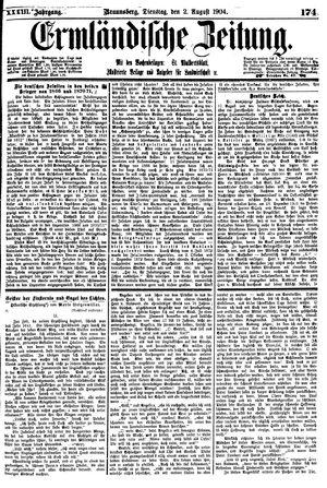 Ermländische Zeitung vom 02.08.1904