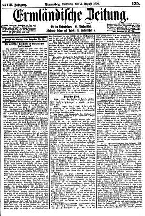 Ermländische Zeitung vom 03.08.1904