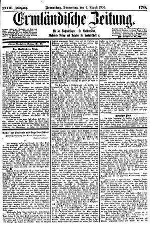 Ermländische Zeitung vom 04.08.1904