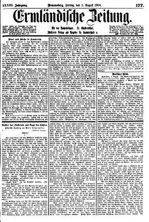 Ermländische Zeitung vom 05.08.1904