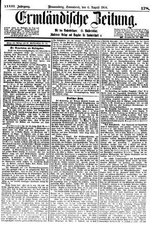 Ermländische Zeitung vom 06.08.1904
