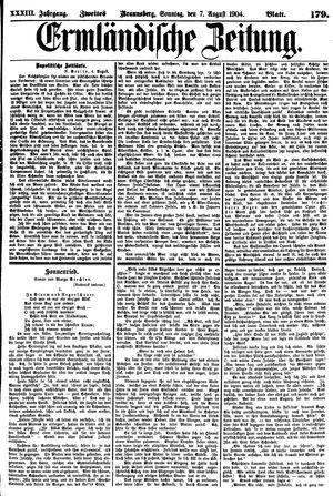 Ermländische Zeitung vom 07.08.1904