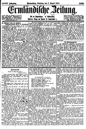 Ermländische Zeitung vom 09.08.1904