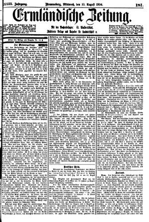 Ermländische Zeitung vom 10.08.1904