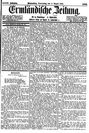 Ermländische Zeitung vom 11.08.1904