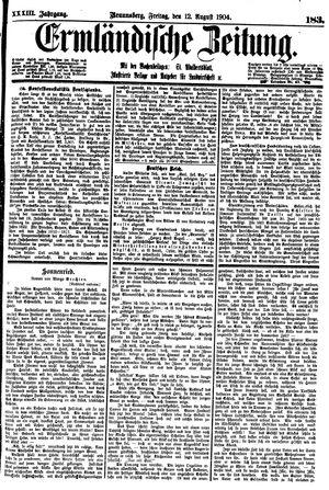 Ermländische Zeitung on Aug 12, 1904