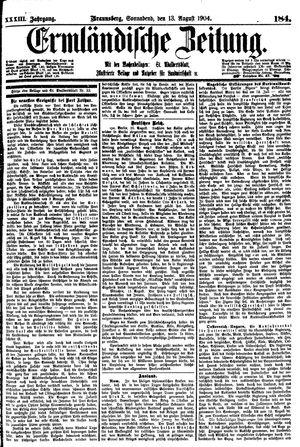 Ermländische Zeitung vom 13.08.1904