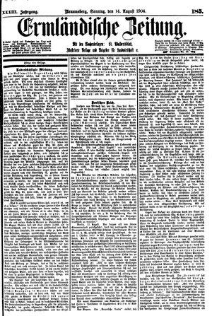 Ermländische Zeitung vom 14.08.1904