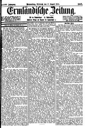 Ermländische Zeitung vom 17.08.1904