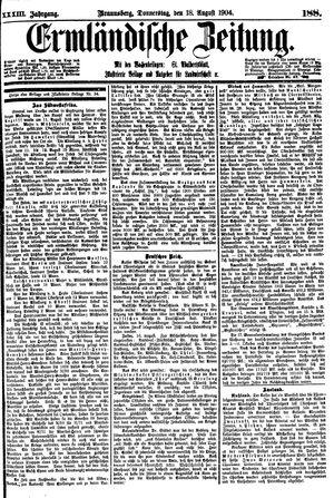 Ermländische Zeitung vom 18.08.1904