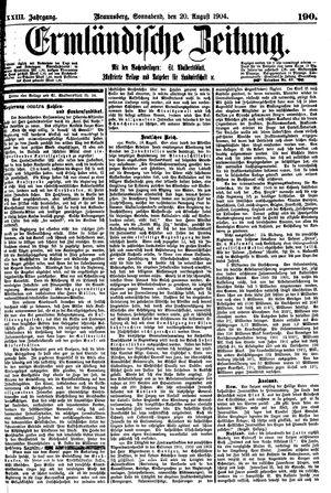 Ermländische Zeitung vom 20.08.1904