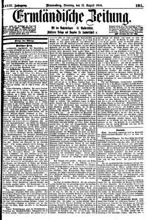 Ermländische Zeitung vom 21.08.1904