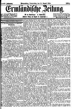 Ermländische Zeitung vom 25.08.1904