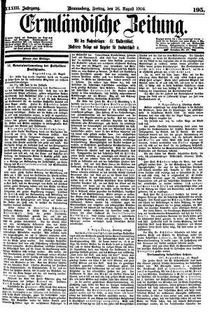 Ermländische Zeitung vom 26.08.1904
