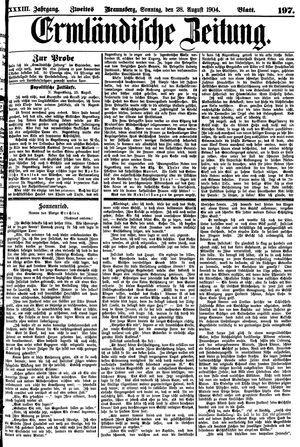 Ermländische Zeitung vom 28.08.1904