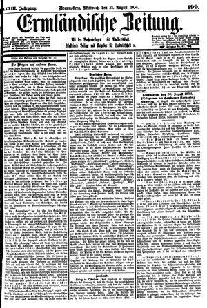 Ermländische Zeitung vom 31.08.1904