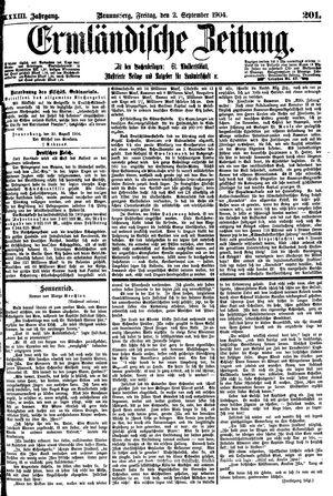 Ermländische Zeitung vom 02.09.1904