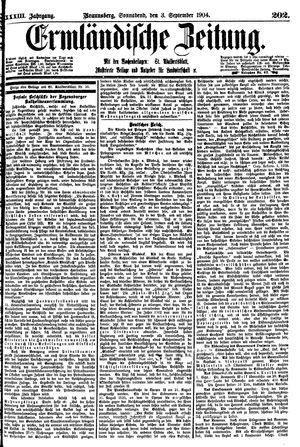 Ermländische Zeitung vom 03.09.1904