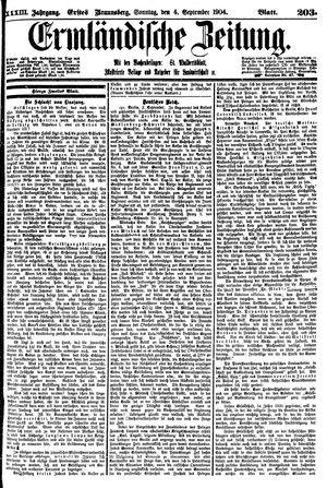 Ermländische Zeitung vom 04.09.1904