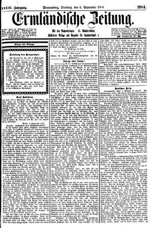 Ermländische Zeitung vom 06.09.1904