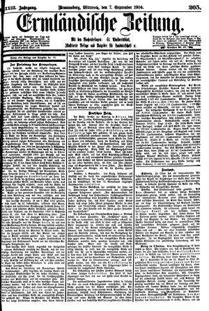 Ermländische Zeitung vom 07.09.1904