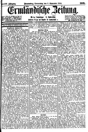 Ermländische Zeitung vom 08.09.1904