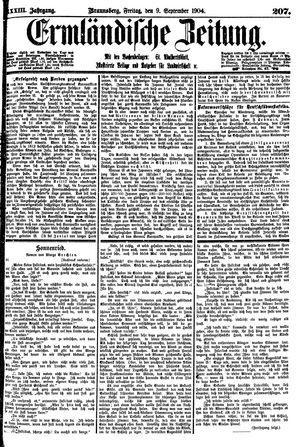 Ermländische Zeitung on Sep 9, 1904