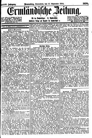 Ermländische Zeitung vom 10.09.1904