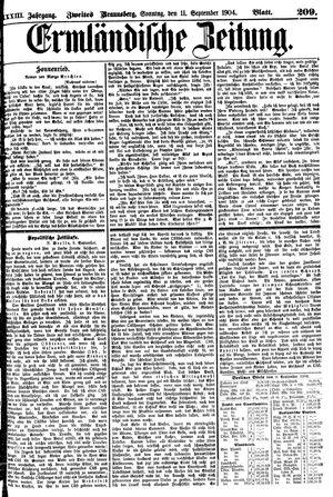 Ermländische Zeitung vom 11.09.1904