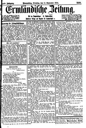 Ermländische Zeitung vom 13.09.1904